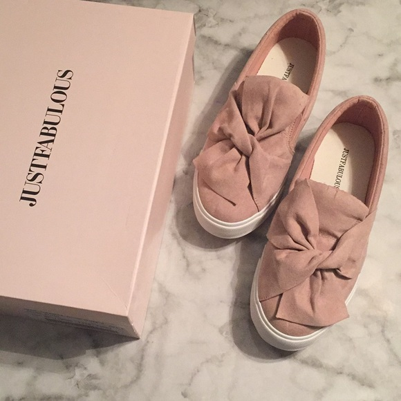 0a4a05317840 JustFab Murial Blush Sneakers